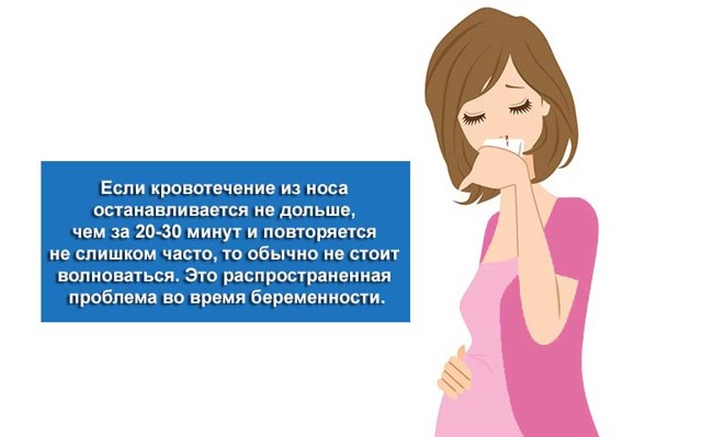 Кровь из носа при беременности: причины, опасность, как остановить, профилактика