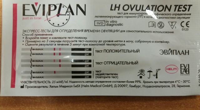 Тест Еviplan: тест на овуляцию и его использование
