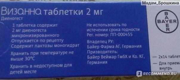 Визанна при миоме матки: характеристика препарата