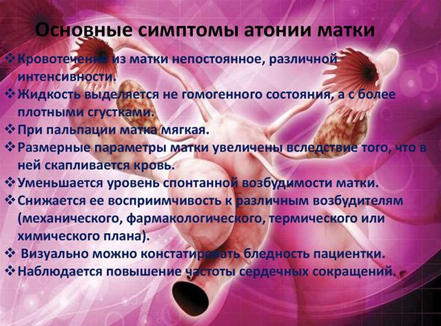Гипотония матки при родах: причины и методы лечения